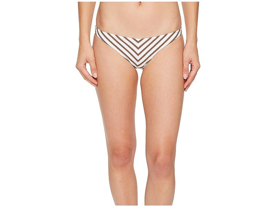 Vitamin A Swimwear Tulum Bottom (Marin Stripe Cocoa) Women