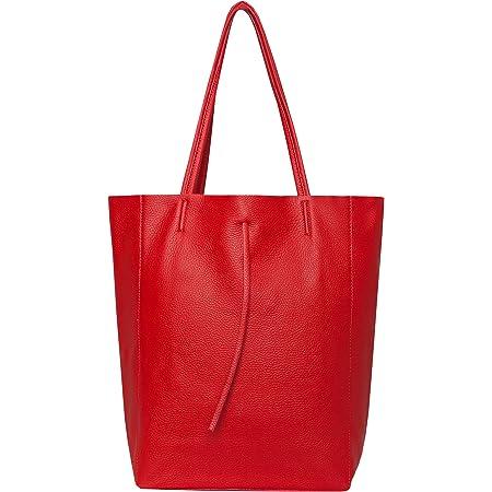 SKUTARI® LEDER VITTORIA Classic | Damen Shopper | Handtasche | Schultertasche | eingenähter Innentasche | Ledertasche | Beuteltasche | Umhängetasche | MADE IN ITALY