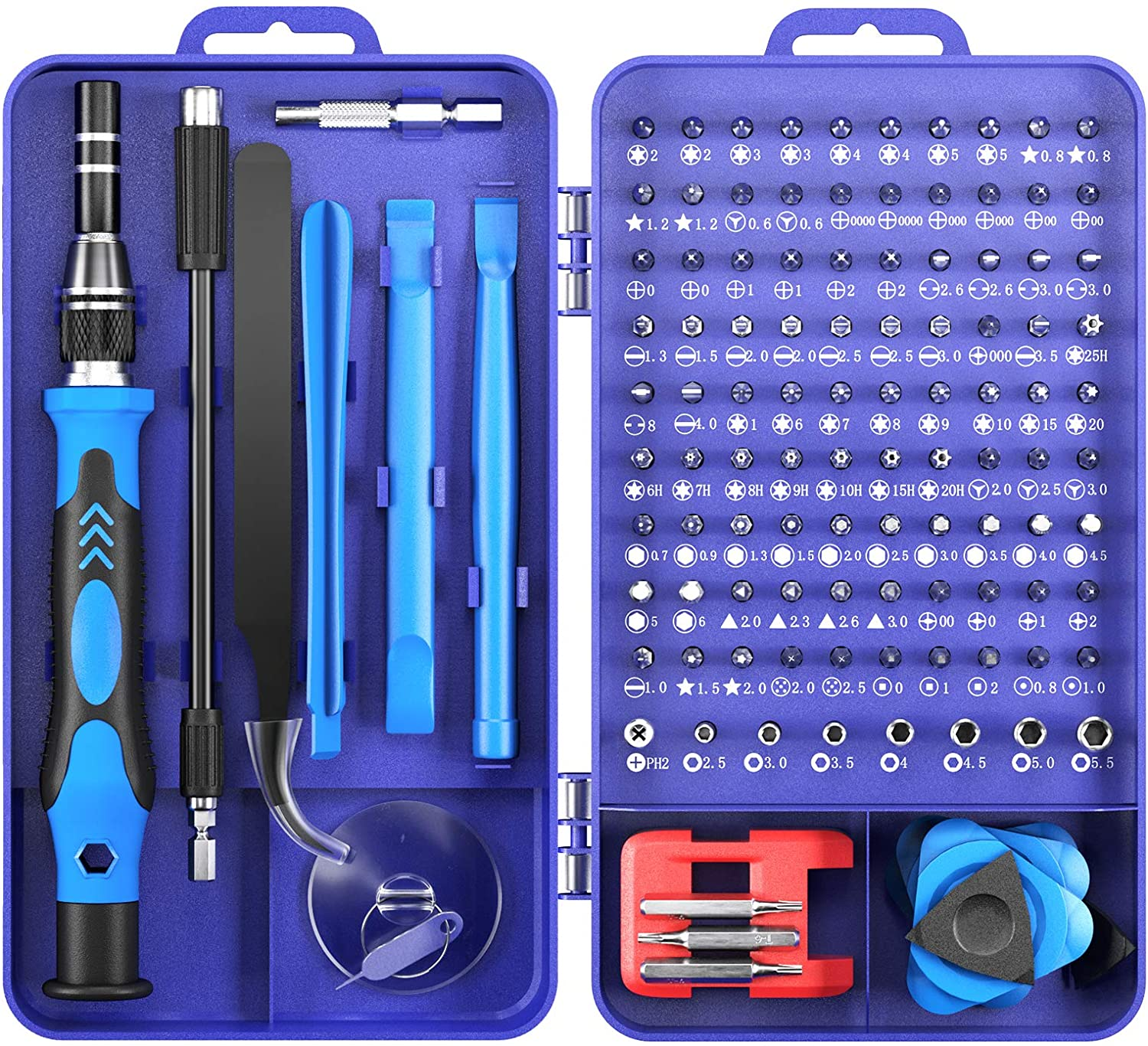 Screwdriver Sets Precision Tools - 122 in 1 Magnetic Multi Screwdrivers Sets with Case, Repair Screw driver Kit for Computer/Eyeglass/PC/Laptop/Mobile Phone/Watch/Camera/TV/Other Electronic Devices