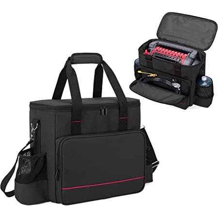SAMDEW Portable Buddy Carry Bag Compatible with Mr. Heater MH9BX, Buddy Propane Heater Carrying Case with Pockets and Handles, Wear &Water-Resistant, Black, Bag Only