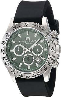 Oceanaut Men's Biarritz Stainless Steel Quartz Watch with Rubber Strap, Black, 22 (Model: OC6112R)