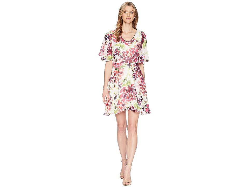 B Collection by Bobeau Monca A-Line Dress (Tropical Print) Women