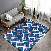 Bedroom Livingroom Sitting-Room Queen Size Kitchen Rugs Home Art - New Zealand Flag Floor Mat Doormats Fast Dry Bathroom Rug Mat Yoga Mat Throw Rugs Runner