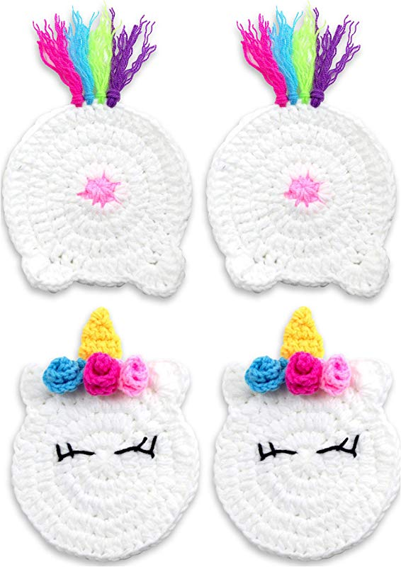 Buttsters UNICORN BUTT Crochet Drink Coaster Set Funny Unicorn Gifts For Adults Women Your Coffee Mug Or Cup