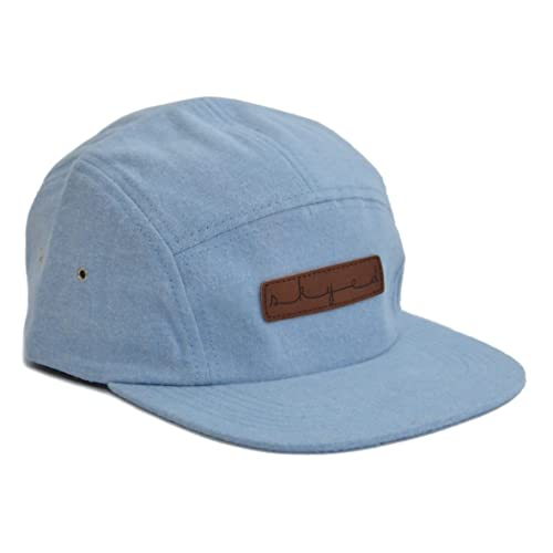 7052096726f60 Skyed Apparel Premium 5 Panel Hat with Genuine Leather Strap (Multiple  Colors)