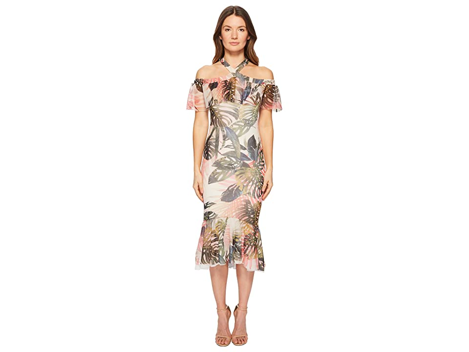 FUZZI Ruffle Fitted Dress (Petalo) Women