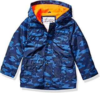 Carter's Boys' Toddler Midweight Snap & Zip Fleece Lined Jacket