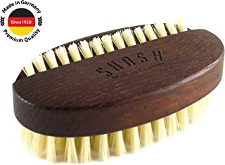 SHASH Good Impressions Natural 100% Boar Bristle Nail Brush, Made in Germany Since 1920 - Gently Removes Dirt and Grime for Clean Hands - Exfoliates Skin for Soft, Smooth Texture, Eco-Sourced Wood
