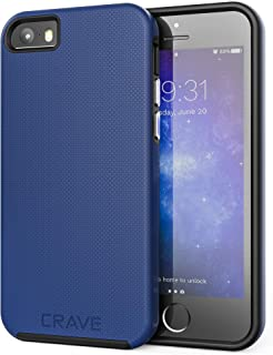 iPhone SE Case, Crave Dual Guard Protection Series Case for iPhone 5 / 5s / SE - Navy Blue