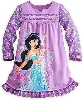Store Jasmine Aladdin Long Sleeve Nightshirt Nightgown for Girls, Purple