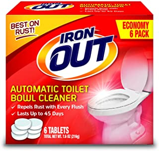 Iron OUT Automatic Toilet Bowl Cleaner, Repel Rust and Hard Water Stains with Every Flush, Household Toilet Cleaner, Pack ...
