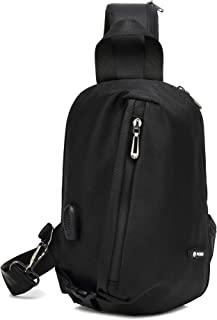 DDraw Single Shoulder Bag Waterproof Messenger Bag with USB Charging Port For Travel/Sports/Hiking Large Capacity Backpack
