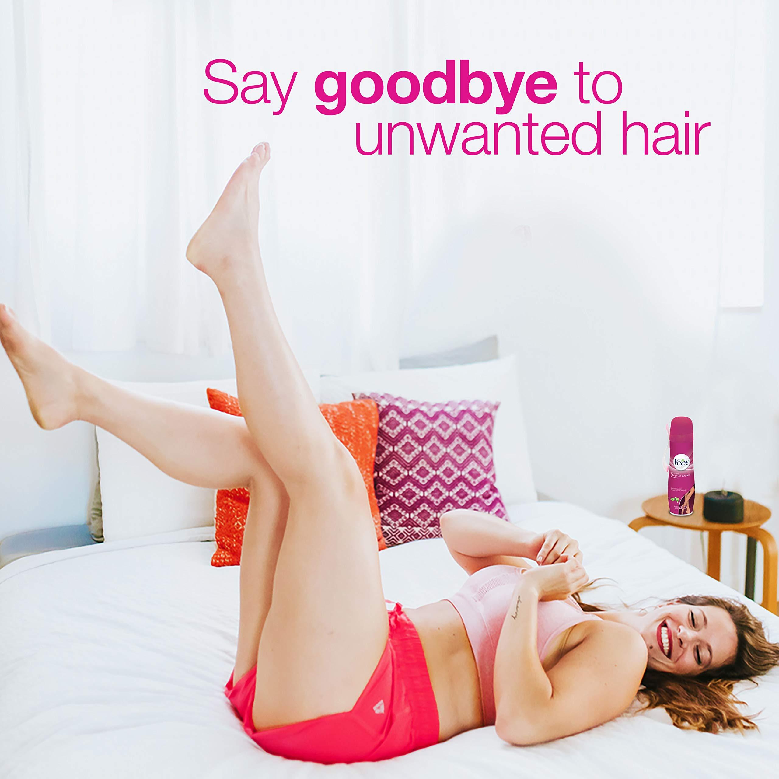 Veet Spray On Hair Remover Cream, Sensitive Formula, 5.1 Ounce