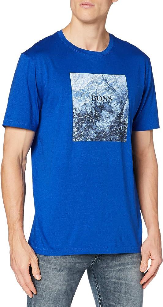Boss,maglietta, t-shirt a maniche corte per uomo,100% cotone 50446474E