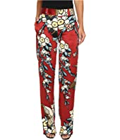 DSQUARED2 - Fantasy Printed Silk Cherry Blossom Silk Mariacarla Pants