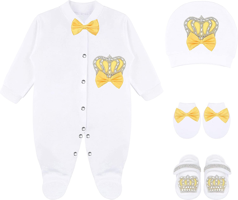 Lilax Baby Girl Newborn Jewels Layette 4 Piece Gift Set