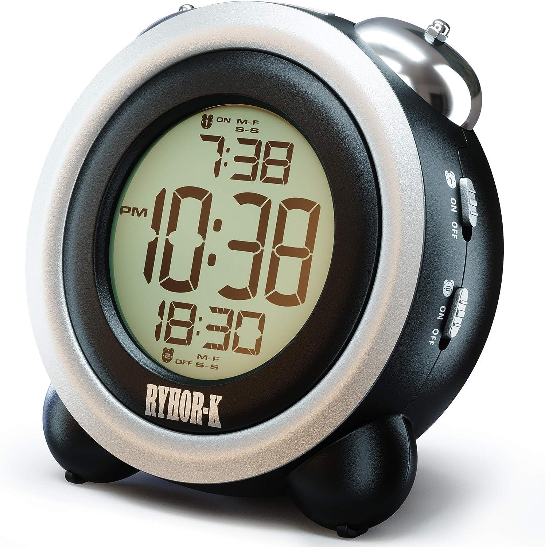 Loud Bombing new Popularity work Alarm Clock for Heavy - Sleepers Digital Simple Batte