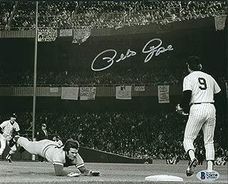 Autographed Pete Rose 8x10 Cincinnati Reds Photo Beckett COA