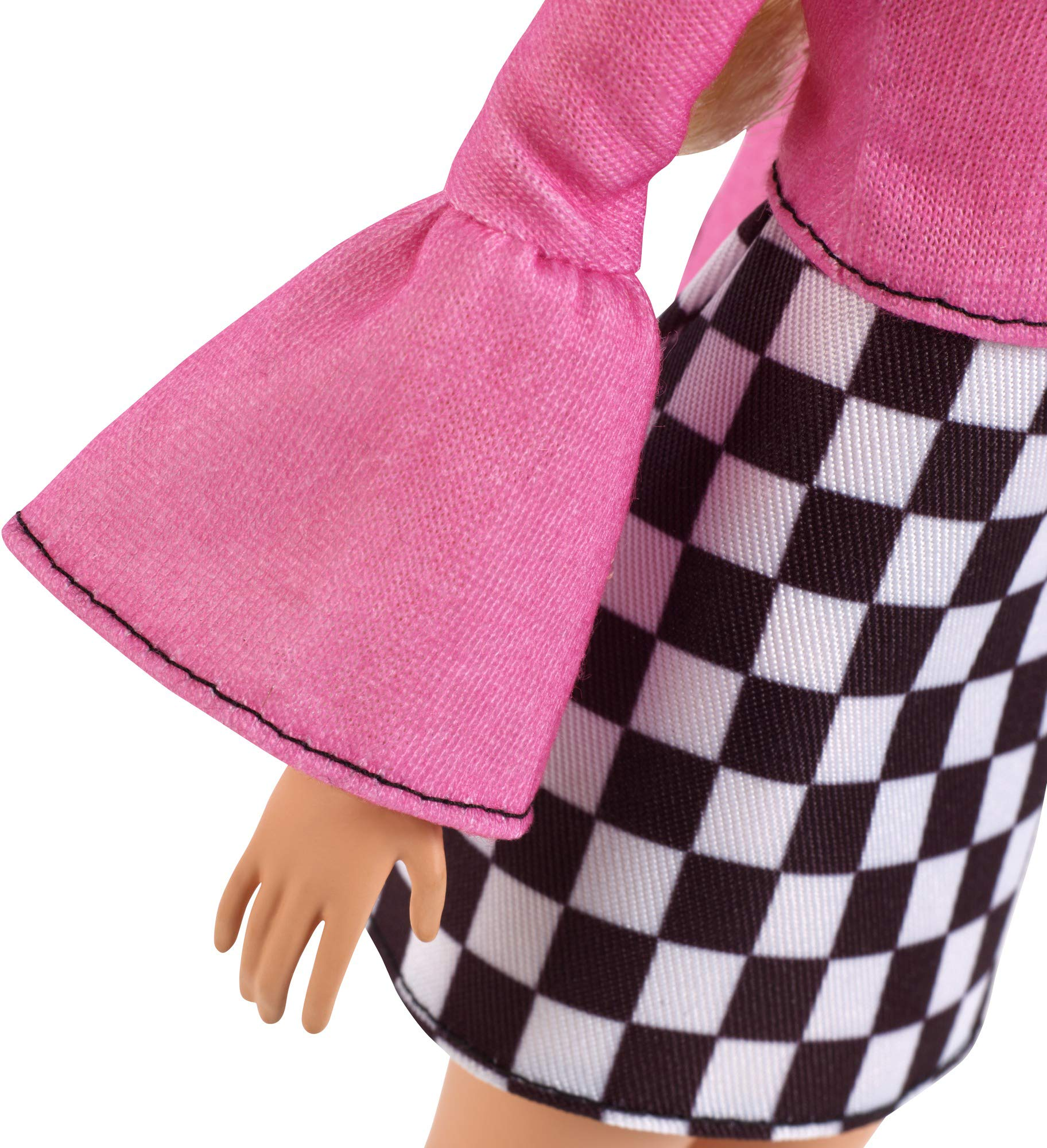 Amazon.es: Barbie Fashionista - Muñeca rubia con falda a cuadros ...