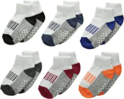 Sporty Half Cushion Quarter Socks 6-Pair Pack (Toddler/Little Kid/Big Kid/Adult)
