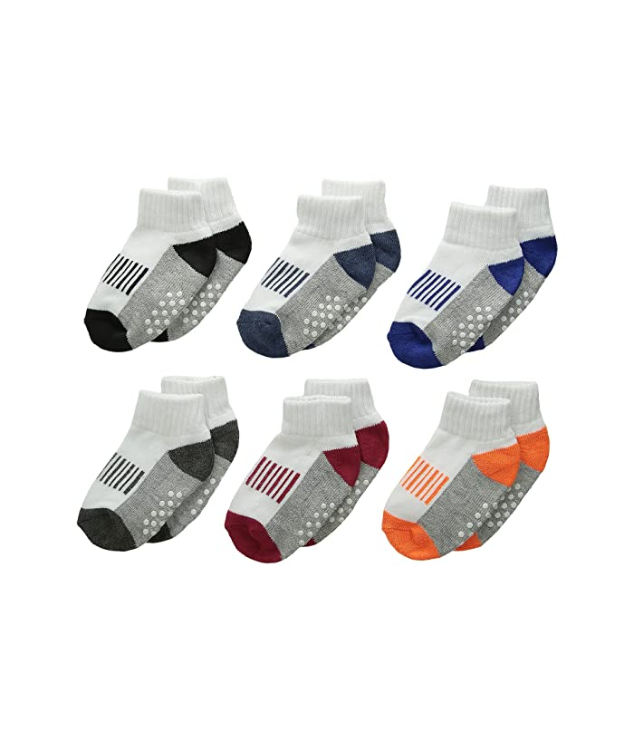Jefferies Socks Sporty Half Cushion Quarter Socks 6 Pair Pack Toddler Little Kid Big Kid Adult