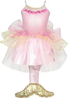 Mermaid Princess Dress Size 5/6-pale Pink