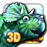 Dinosaures règnent la terre 3D puzzle gratuitement pour enfants et teenagers garçons et filles avec des dinosaures colorés en 3D et des animaux préhistoriques puzzles