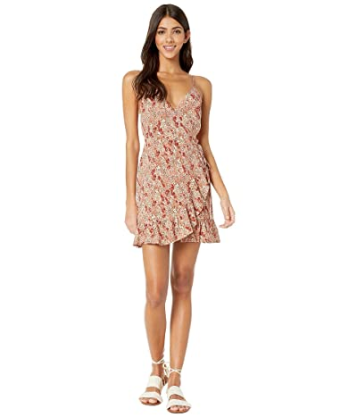 Free People All My Love Printed Wrap Dress (Ivory) Women
