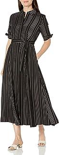 فستان طويل للنساء بأكمام ثلاثة أرباع من كالفن كلاين
