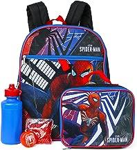 Spider-Man 5-Piece Backpack Set - red/black, one size