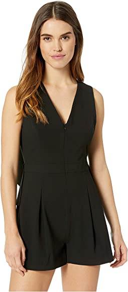 Draped Open-Back Romper