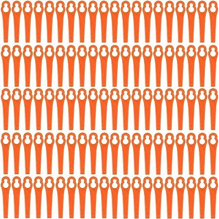 gro/ßen Lochdurchmesser is 12 mm Einhell Happylohas Rasentrimmer-Zubeh/ör 100 St/ück Kunststoffmesser f/ür Akku-Rasentrimmer Bosch Gr/ün