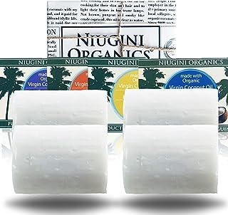 Die Reinste Kokosseife DER WELT Aus 100% Bio Kokosöl | Vegane Naturseife | Fairtrade | Nachhaltige Produktion | Ohne Palmöl | Gemischt: Pur & Geruchlos, Zitronengras, Lavendel, Patschuli, 4 x 100g