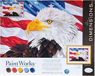 Dimensions, Bald Eagle, PaintWorks Paint by Numbers Kit for Adults and Kids, 20'' x 14'