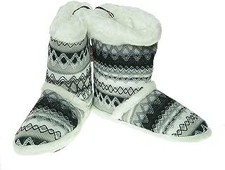 Blazin Roxx Ladies Knit Print Boot Slipper