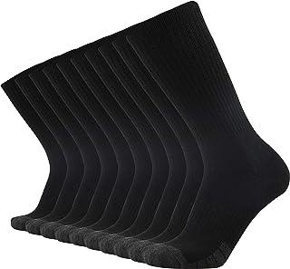INboots Men`s 10 Pairs Cotton Moisture Wicking Extra Heavy Cushion Athletics Workout Crew Socks
