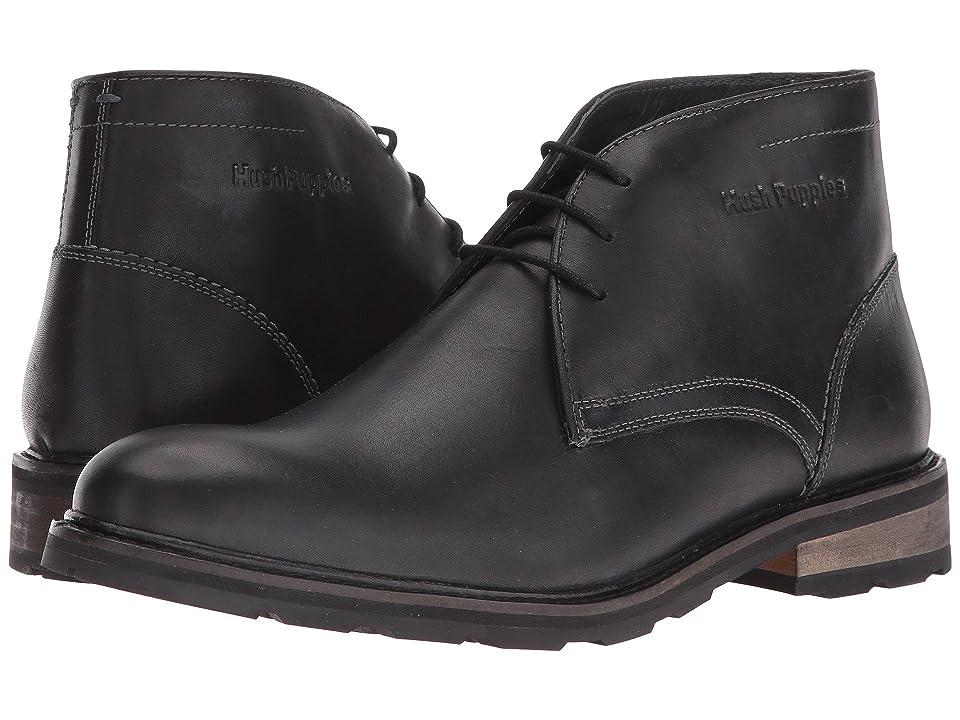 Hush Puppies Waterproof Benson Rigby ICE+ (Black Waterproof Leather) Men