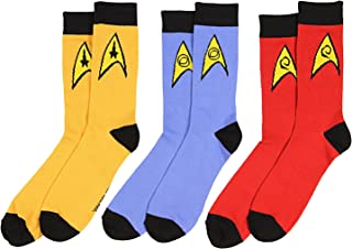 Star Trek The Original Series Uniform Adult Crew Socks