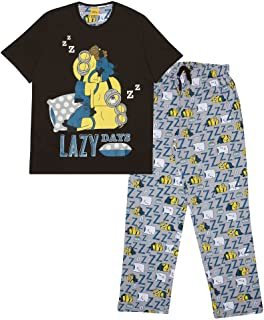 Minions Lazy Days Men's Long Pyjamas Set   Official Merchandise   Father's Day, Despicable Me, Gift Idea for Dad