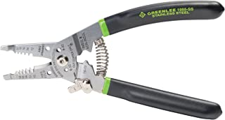Greenlee 1955-SS Pro Stainless Wire Stripper, Cutter and Crimper Curve, 10-18AWG, 7.5-Inches