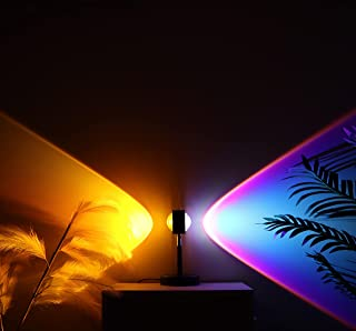 IKZIZI Sunset Lamp, 4 Colors with Double-Sided Projection Sunset Lamp, Touch Switch Control with Led Night Light Sunset Pr...