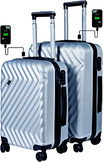 f39f95249 3G Atlantis Smart Series ABS USB Charging 4 Wheel Hard Sided Luggage  Trolley Travel Bags (