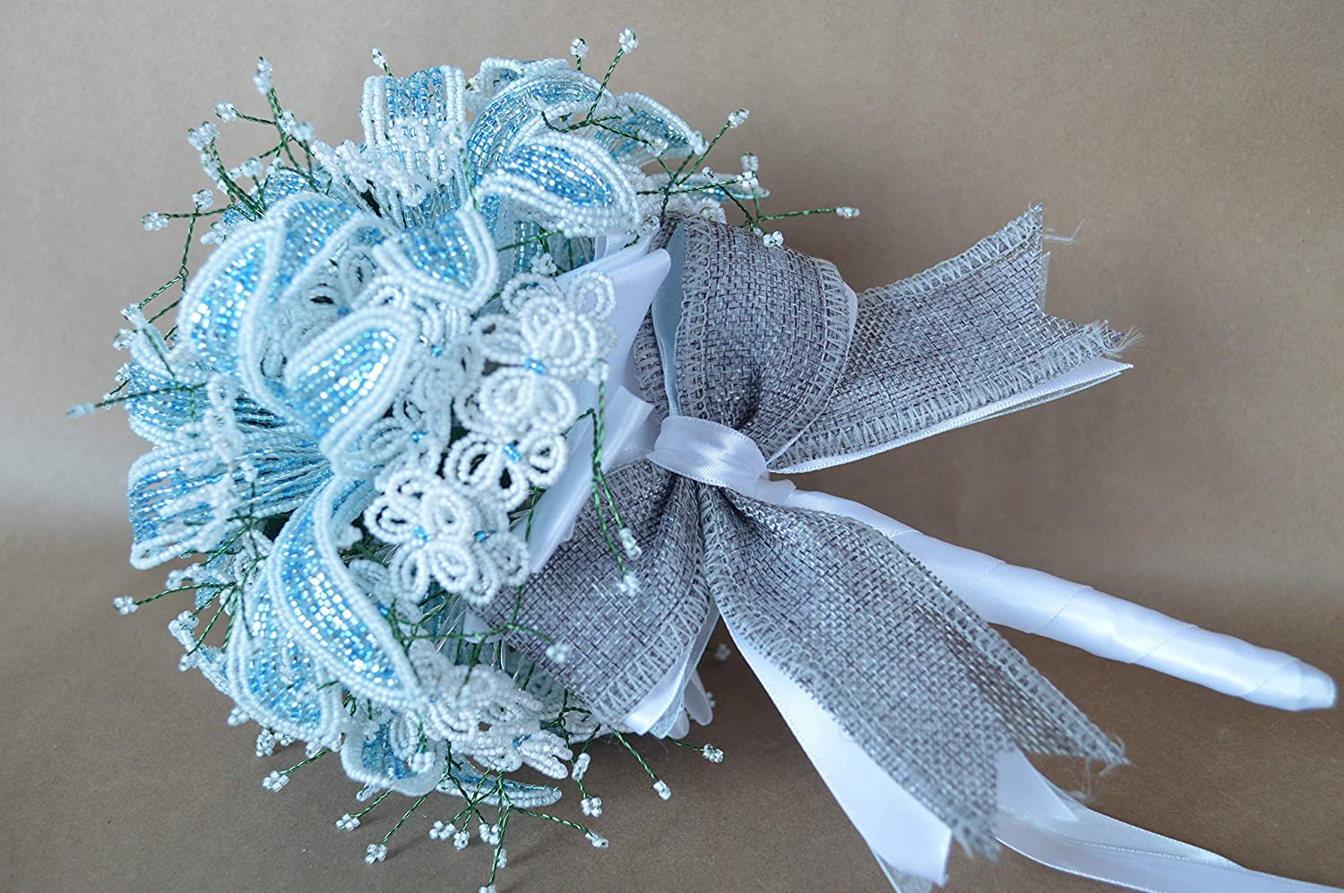 custom made french Max 50% OFF beaded Sale special price bouquet flower bridesmaid bridal