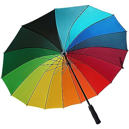 WOP ART Rainbow II Parapluie XXL Motif arc-en-ciel II Pour femme Ø 120 cm Mécanisme automatique