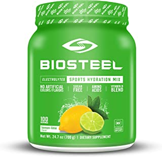 Sponsored Ad - BioSteel Hydration Mix - Sugar Free, Essential Electrolyte Sports Drink Powder - Lemon-Lime - 100 Servings