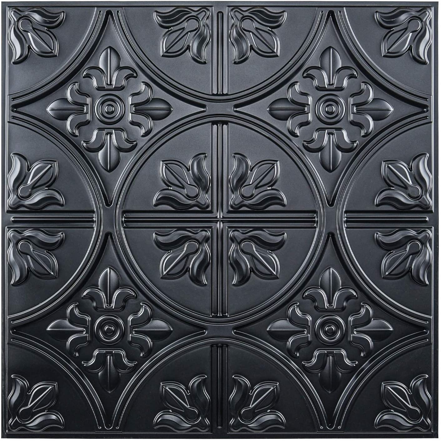 Art3d Drop lowest price Ceiling Mesa Mall Tiles 2x2 Class Glue-up Fancy Panel