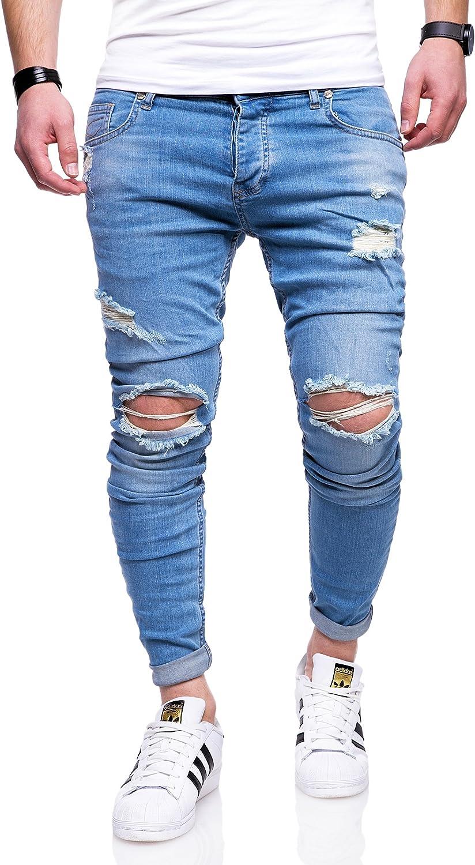 Rello & Reese Herren Destroyed Jeans Hose JN-2763 Hellblau