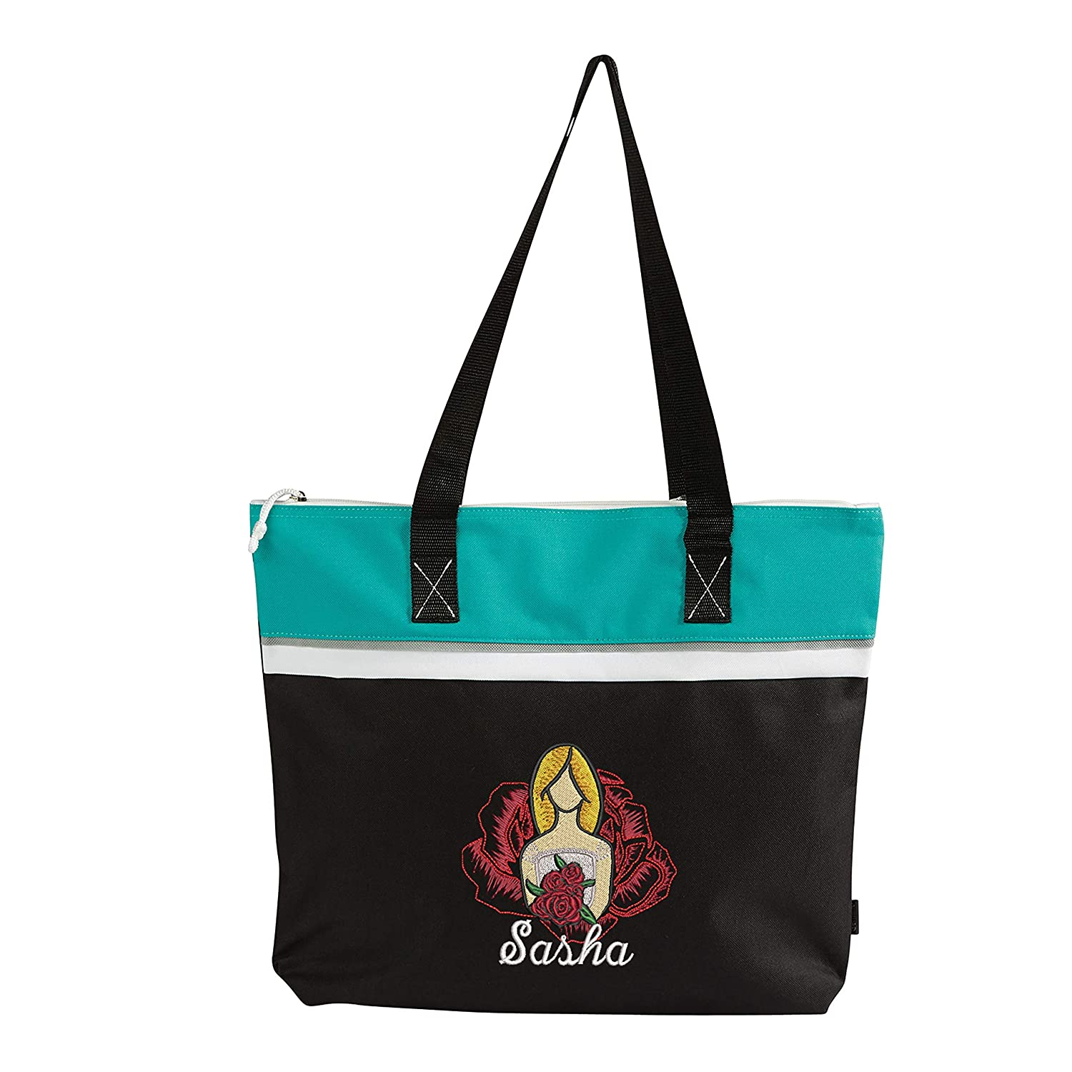 Floral Bride Embroidered Personalized Beach Tote Same Max 56% OFF day shipping Small Travel
