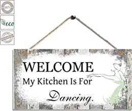 Smarten Arts Kitchen Wall Decor Wood Wall Hanging Decor Sign-My Kitchen is for Dancing-Home Decor Kitchen Wall Art Size 11.5