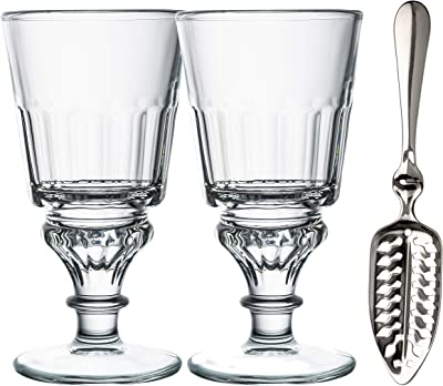 La Rochere 6405.01_498 Set of 2, 10 oz Glasses Recipe, Absinthe Spoon, Drinkware Set, One Size, Clear